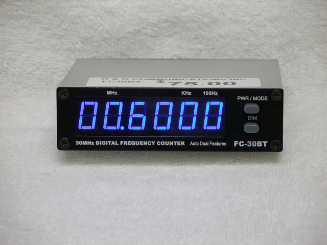 Cb Frequency Counter : Fc bt blue frequency counter connex galaxy cb radio ebay